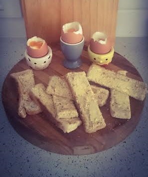 My boys love dipping their 'soldiers into their egg cups!