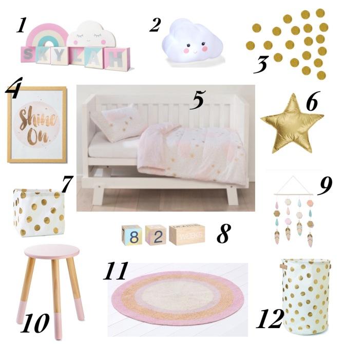 Kmart baby girl nursery decor