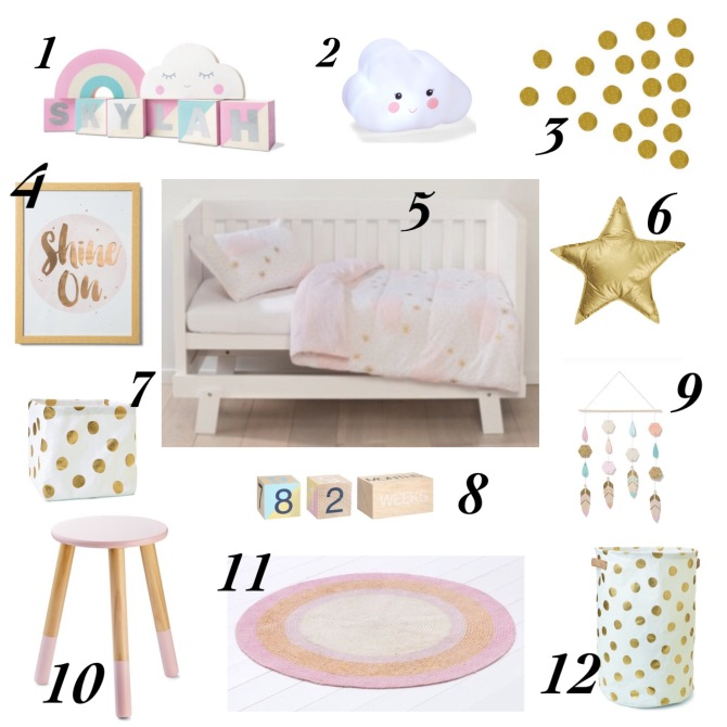 Kmart baby girl nursery decor